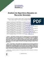 Análisis de Algoritmos Basados en Recocido Simulado