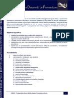 Carta Descriptiva Desarrollo de Nuevos Proveedores DIRH