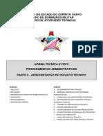 CBMES NT 01-2010 - Procedimentos Administrativos, Parte 2 - Apresentação de Projeto Técnico