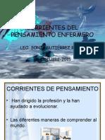 Corrientes Del Pensamiento Enfermero 2015
