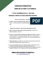 Jornadas Formativas en Defensa de Vida y La Familia