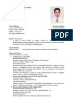 CV of Md. Faysal Ahamed Khan