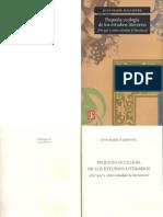 Pequeña Ecología de Los Estudios Literarios