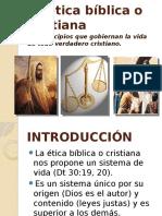 Ética Bíblica o Cristiana
