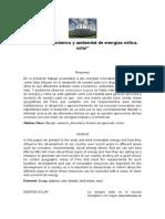 Impacto Económico y Ambiental de Energías Eólica