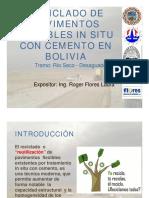 Reciclado de Pavimentos Flexibles en Bolivia