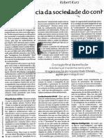 A Ignorância Da Sociedade Do Conhecimento Robert Kurz FSP (1) (1)