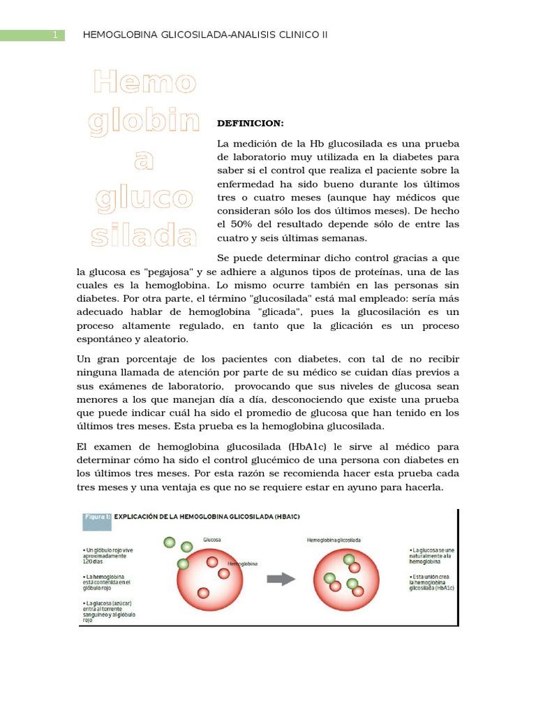 como se realiza la prueba de hemoglobina glicosilada pdf