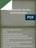 Agenda de Evaluación de Los Aprendizajes 6.