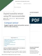 Digital Humidity Sensor With Lcd Display Using Microcontroller