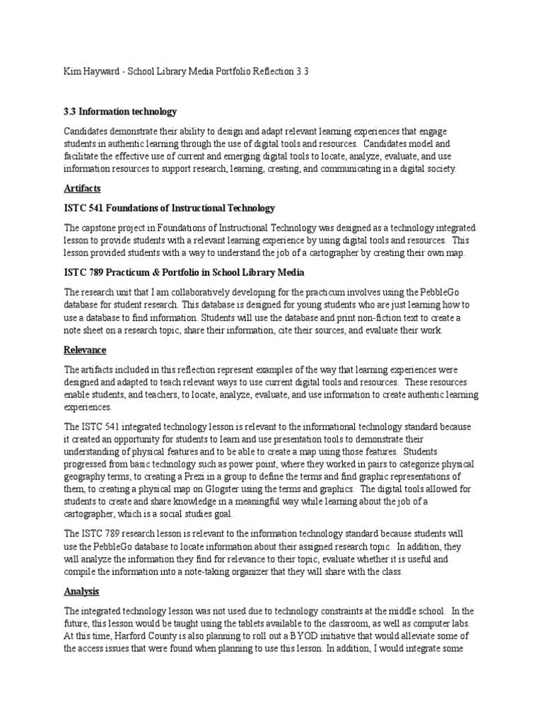 Portfolio Reflection 3 3 Educational Technology Cartography