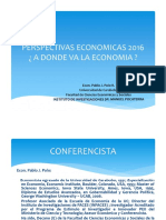 PABLO POLO Perspectivas Economicas 2016