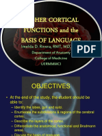 Higher Cortical Functions and Basis of Language