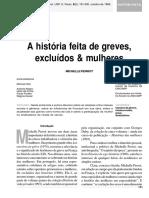 A história feita de greves excluídos e muilheres - Michelle Perrot.pdf