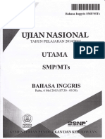 Soal UN SMP 2014-2015 Bahasa Inggris