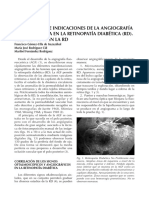 Valor Actual e Indicaciones de La Angiografia Fluoresceinica en La Retinopatia Diabetica Rd. Telemedicina en La Rd