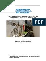 Informe 1_mejoramiento Centro de Salud Kañaris