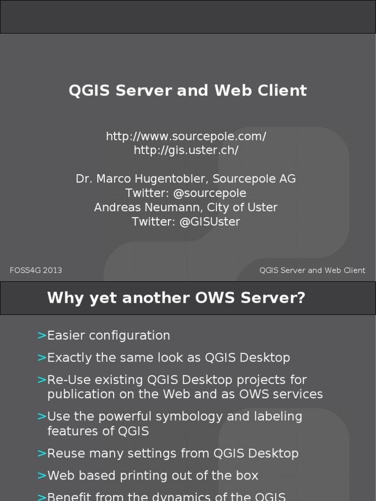 Qgis Server Web Client | Server (Computing) | Metadata