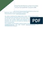 Pelatihan Karyawan | Informasi Training | Training Provider / Vendor Training / Lembaga Penyedia Pelatihan SDM | Informasi Private/Public/Inhouse Training ISO
