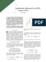Informe de laboratorio 3 - Electrónica Análoga - Amplificador diferencial BJT