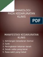 FARMAKOLOGI kedaruratan medik