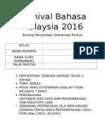 Karnival Bahasa Malaysia 2016