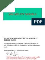 Volatility Models