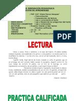 Lectura 3º A  20-05-2015