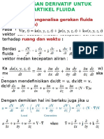 Derivative Relation on Fluid Particle