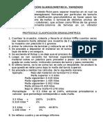 CLASIFICACIÓN GLANULOMETRICA