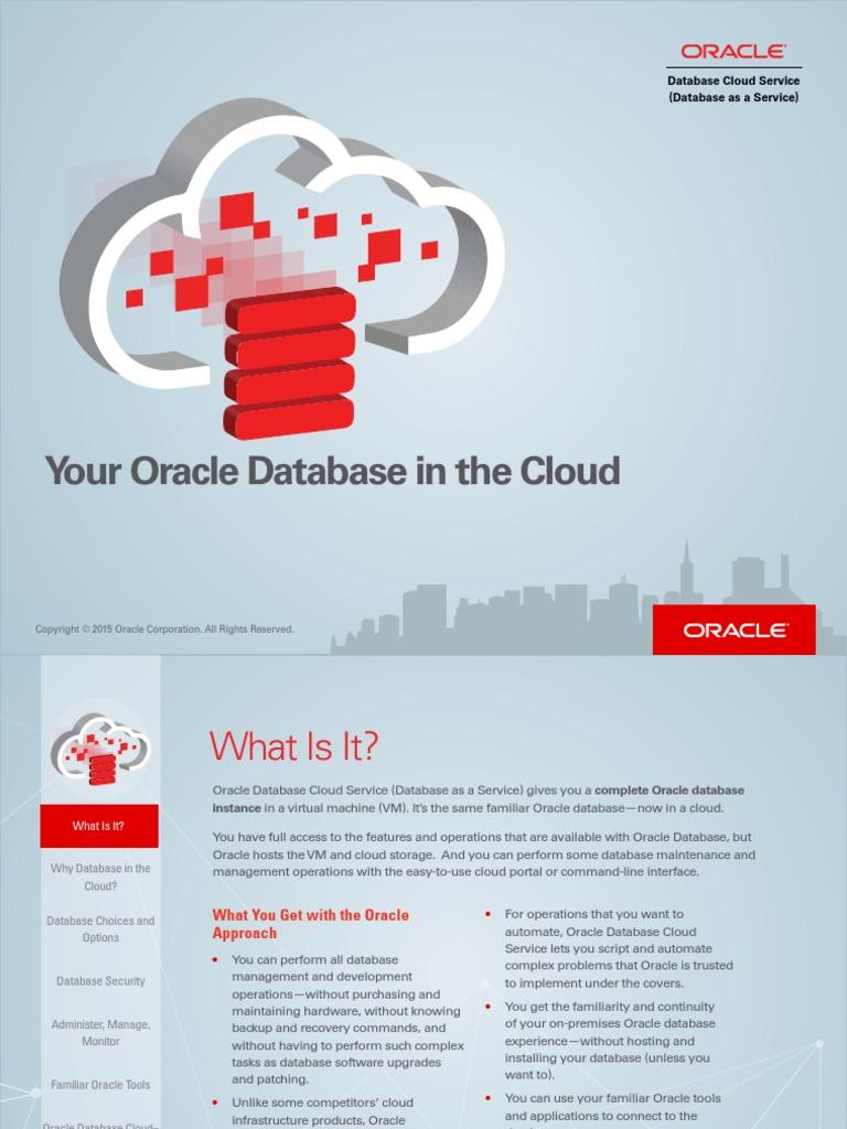 Oracle Database Cloud Service | Oracle Database | Cloud Computing