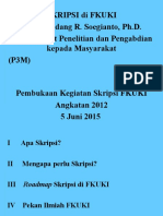 Pembukaan Kegiatan Skripsi Angkatan 2012