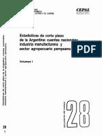 Vol I Estadisticas de corto plazo de la Argentina_Cuentas nacionales, industria manufacturera y sector agropecuario pampeano cepal.pdf