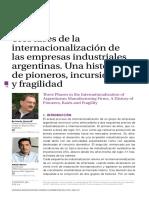 Kosacoff - Ramos (2010) Tres Fases de La Internacionalizacion de Las Empresas Industriales Argentinas Una Ha de Pioneros, Incursiones y Fragilidad