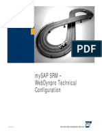 MySAP SRM WebDynpro Technical Configuration