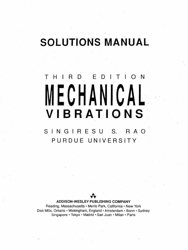 9780201526875: solutions manual: mechanical vibrations, 3rd.