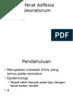Referat Asfiksia Neonatorum