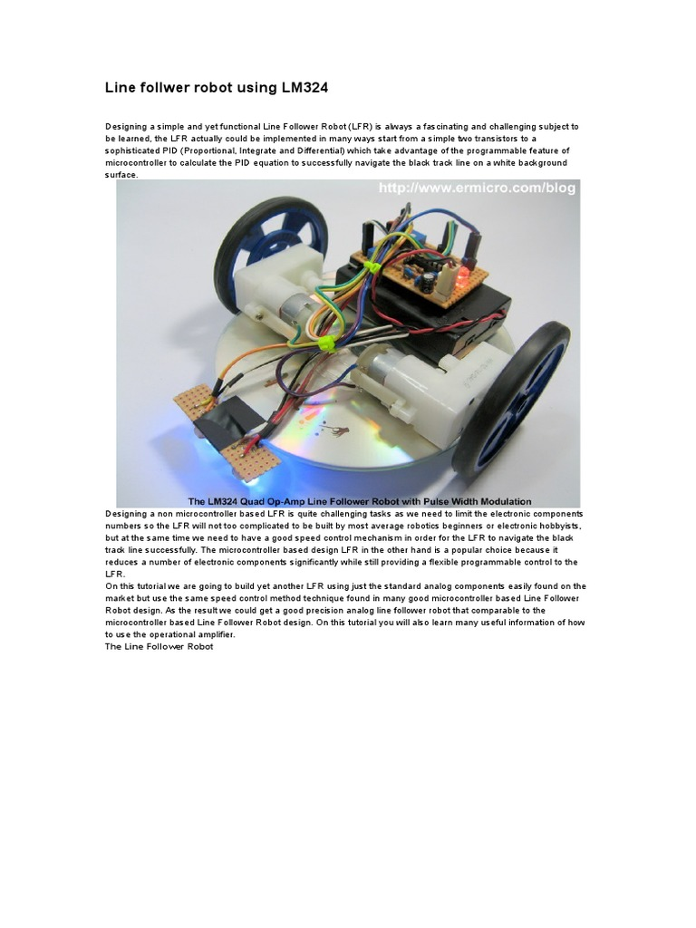 Line Follwer Robot Using Lm324doc Electronic Circuits Follower Schematic Operational Amplifier