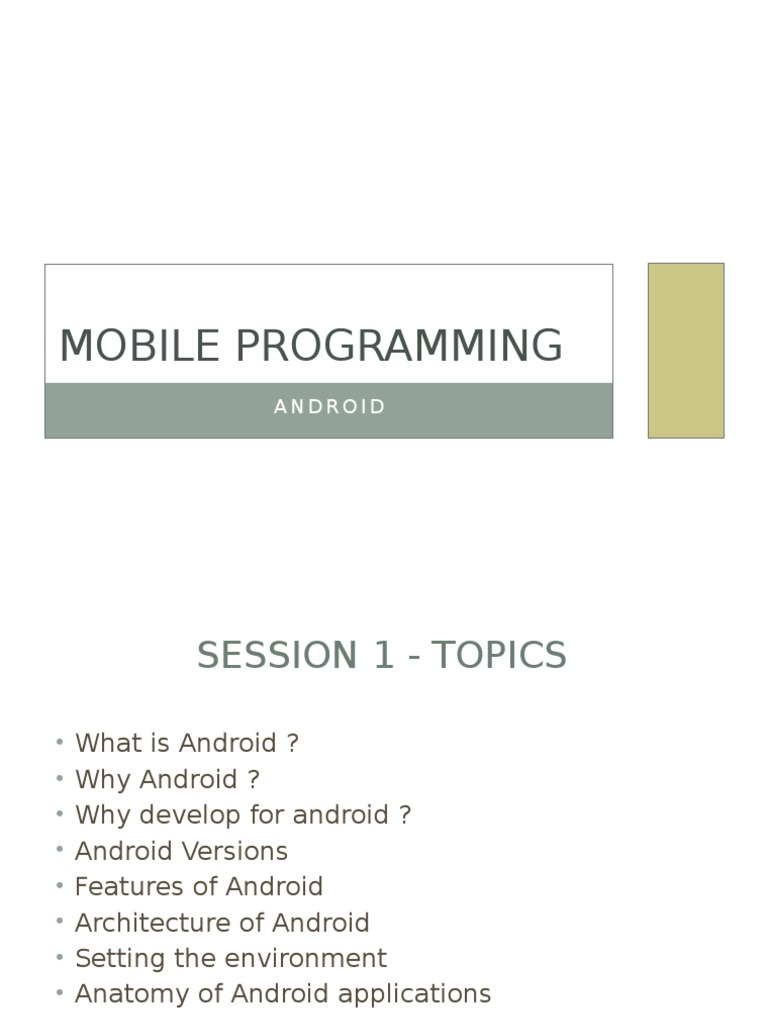Android Intro Slide Android Operating System Ios