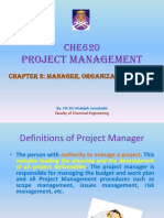 Chapter 3 -Manager CHE620 Project Management
