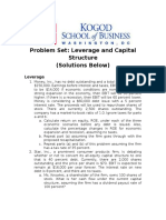 Problem Set-Leverage and Capital Structure.docx