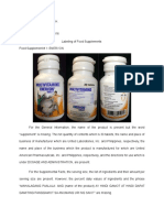 Labels of food supplements