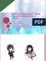 Penetapan Kadar Nikel Dalam Nikel Sulfat (NiSO4)