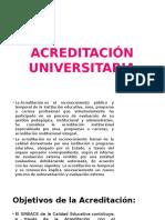 ACREDITACIÓN UNIVERSITARIA