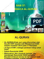 Pel. 37 Adab Menjaga Al-Quran