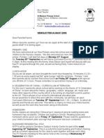 Newsletter August 09