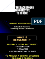 Training of Research Methodology
