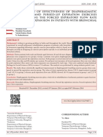 COMPARISON OF EFFECTIVENESS OF DIAPHRAGMATIC BREATHING AND PURSEDLIP EXPIRATION EXERCISES IN IMPROVING THE FORCED EXPIRATORY FLOW RATE AND CHEST EXPANSION IN PATIENTS WITH BRONCHIAL ASTHMA