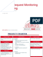 Project Charter and Progress Slide - SR Monitoring and Closing