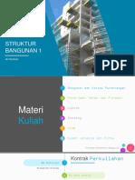 Materi kuliah Struktur Bangunan 1